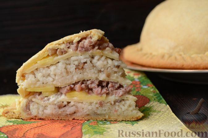 курник на сметане рецепт приготовления с мясом и картофелем
