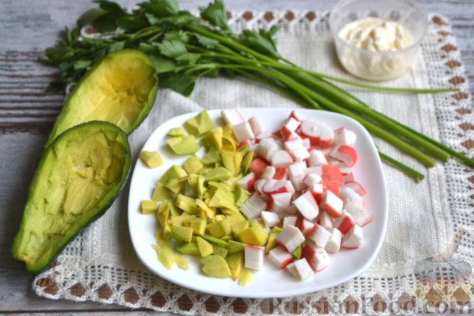 рецепт салата из авокадо с крабовым мясом рецепт
