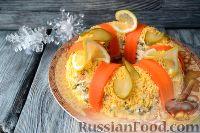 """Фото к рецепту: Салат """"Праздничный оливье"""" с курицей"""