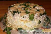 """Фото приготовления рецепта: Салат """"Грибная поляна"""" - шаг №15"""