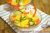 Фото к рецепту: Салат с ананасами и апельсинами
