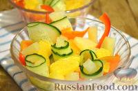 Фото приготовления рецепта: Салат с ананасами и апельсинами - шаг №9