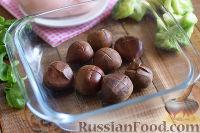 Фото приготовления рецепта: Салат с брокколи и каштанами - шаг №2