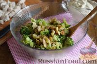 Фото приготовления рецепта: Салат с брокколи и каштанами - шаг №7