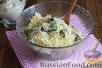 Фото приготовления рецепта: Салат с брокколи и каштанами - шаг №10