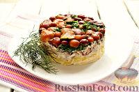 """Фото приготовления рецепта: Салат """"Грибная поляна"""" - шаг №11"""