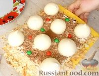 Фото приготовления рецепта: Торт с зефиром и бананами (без выпечки) - шаг №9