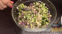 """Фото приготовления рецепта: Салат """"Гнездо глухаря"""" - шаг №10"""