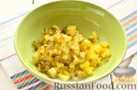 """Фото приготовления рецепта: Заливной салат """"Оливье"""" со шпротами - шаг №3"""