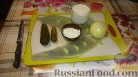 Фото приготовления рецепта: Печенка с огурцами - шаг №3