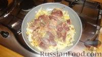 Фото приготовления рецепта: Печенка с огурцами - шаг №7