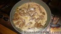 Фото приготовления рецепта: Печенка с огурцами - шаг №8