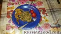 Фото приготовления рецепта: Печенка с огурцами - шаг №10