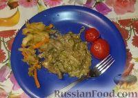 Фото к рецепту: Печенка с огурцами
