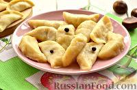 Фото к рецепту: Вареники с капустой и каштанами