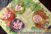 Фото приготовления рецепта: Салат-коктейль с ветчиной и сыром - шаг №2