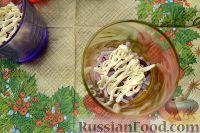 Фото приготовления рецепта: Салат-коктейль с ветчиной и сыром - шаг №4