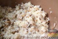 Фото приготовления рецепта: Пирог с мясом и рисом (а-ля курник) - шаг №6