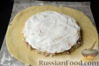 Фото приготовления рецепта: Пирог с мясом и рисом (а-ля курник) - шаг №12