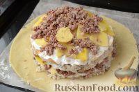 Фото приготовления рецепта: Пирог с мясом и рисом (а-ля курник) - шаг №14