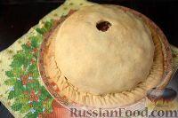 Фото приготовления рецепта: Пирог с мясом и рисом (а-ля курник) - шаг №17