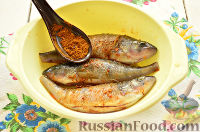Фото приготовления рецепта: Окунь, запеченный в фольге - шаг №4