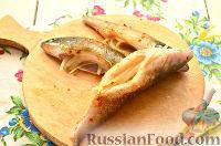 Фото приготовления рецепта: Окунь, запеченный в фольге - шаг №6