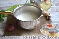Фото приготовления рецепта: Теплый салат из морепродуктов с рисом - шаг №3