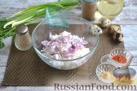 Фото приготовления рецепта: Теплый салат из морепродуктов с рисом - шаг №4