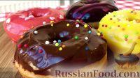Фото к рецепту: Американские пончики (донаты), покрытые шоколадом
