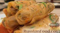 Фото к рецепту: Постные голубцы с грибами