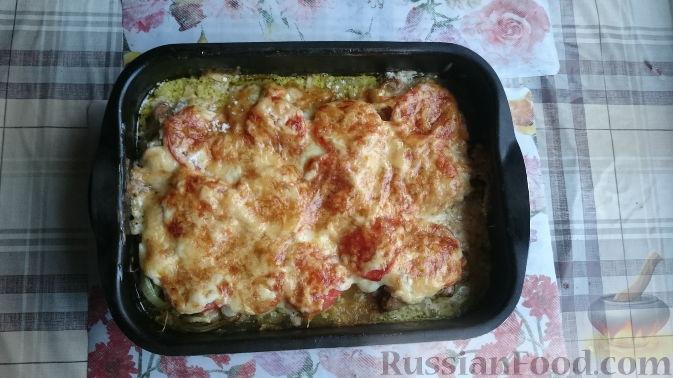 мясо с сыром и помидорами рецепт
