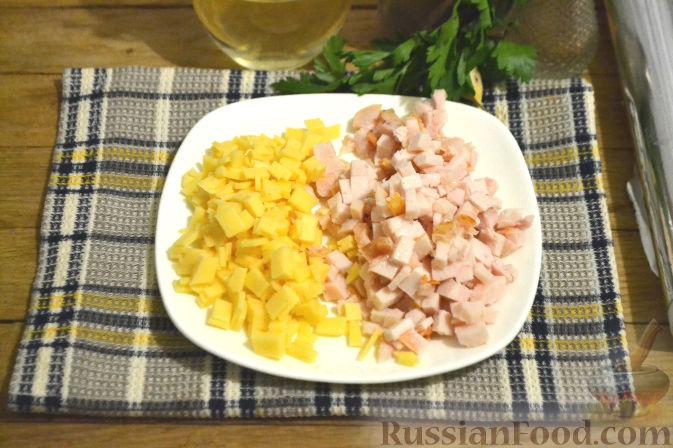 рецепт закуски горячей фаршированной картошки