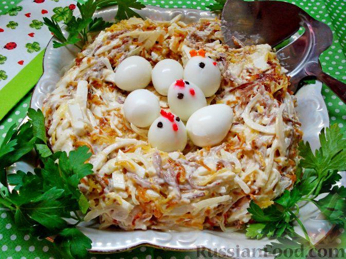 салат гнездо глухаря рецепт как в окее