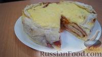 Фото к рецепту: Многослойная домашняя пицца