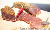 Фото к рецепту: Бастурма из говядины
