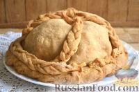 Фото к рецепту: Курник (пирог с курицей, рисом и грибами)
