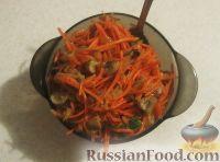 Фото к рецепту: Корейская морковь с грибами