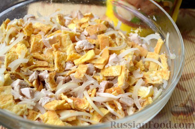 Салат Нежность с грибами  пошаговый рецепт с фото на