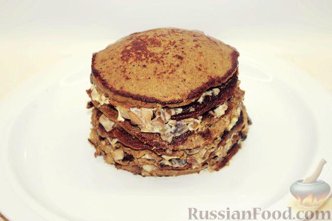 торт печеночный вкусный рецепт с фото с грибами
