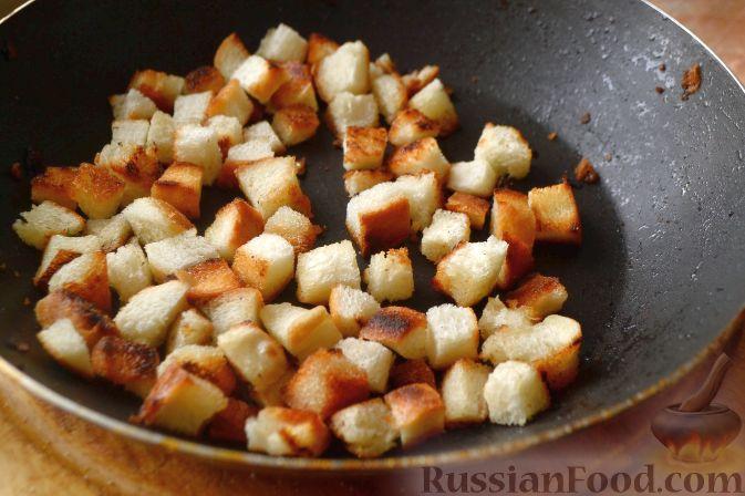 салат с грибами и сухариками и фасолью рецепт с фото #10