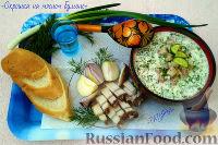 Фото к рецепту: Окрошка на мясном бульоне