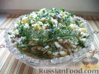 Фото к рецепту: Салат с картофелем и копченой рыбой