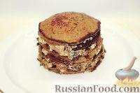 Фото к рецепту: Печеночный торт с грибами