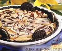 Фото к рецепту: Шоколадный десерт из мороженого и печенья