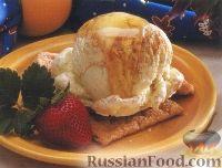 Фото к рецепту: Десерт из мороженого, с мёдом и корицей