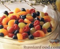 Фото к рецепту: Крем-десерт из пудинга и взбитых сливок, с фруктами