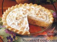 Фото к рецепту: Кокосовый торт-десерт из пудинга, со взбитыми сливками