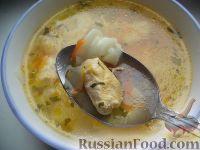 Фото к рецепту: Быстрый куриный суп с макаронами