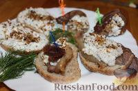 Фото к рецепту: Тапас с беконом, сыром, орехами
